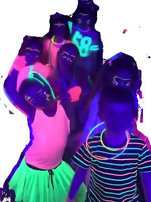 Feestdal - Glow in the dark disco