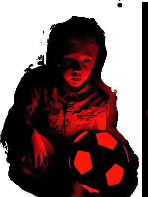 Feestdal - Glow in the dark sport